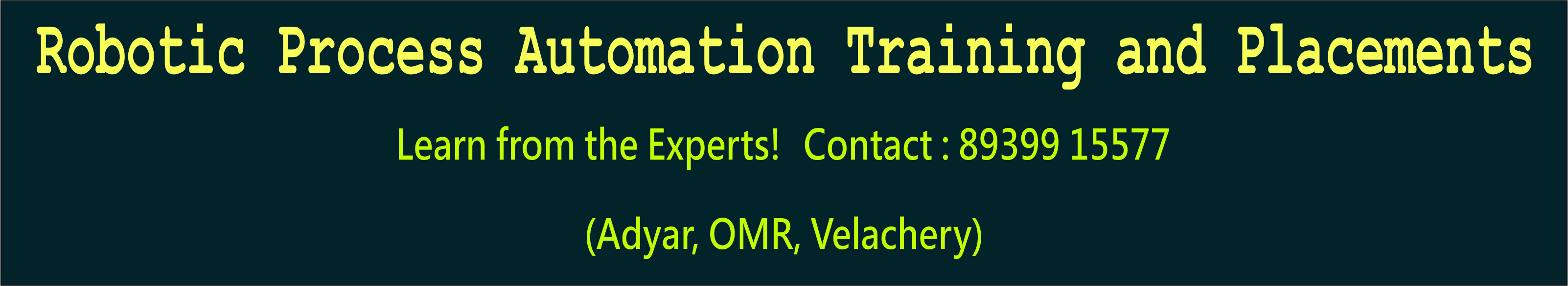 RPA Training in Chennai