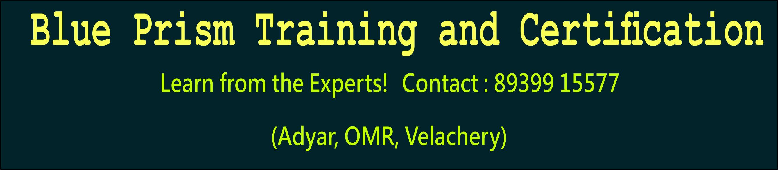 blue prism training in Chennai